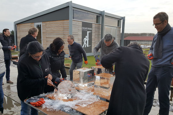 workshop ijssculptuur teambuilding