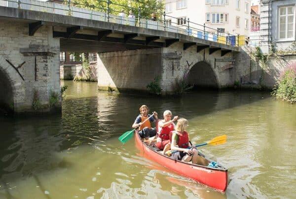Kayakken Gent teambuilding