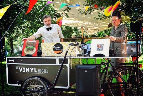 Vinyl Mobiel DJ platen personeelsfeest evenement