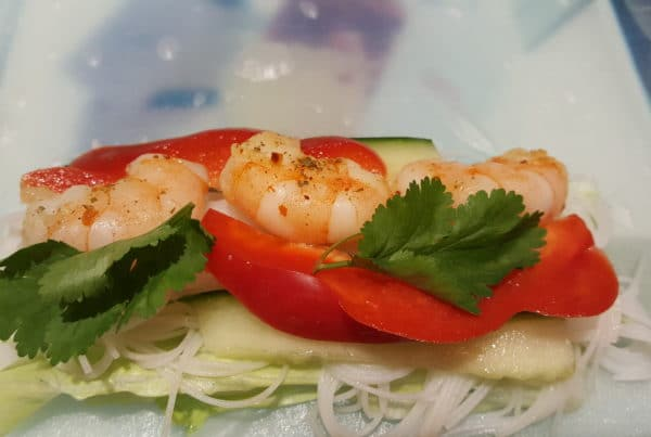 Thaise salade met Scampi