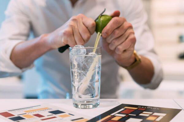 man maakt gin tonic
