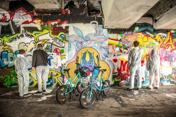 Graffiti-met-de-fiets