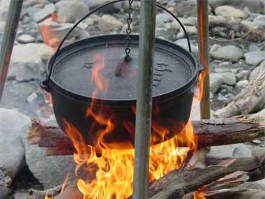 workhop koken op houtvuur in de Ardennen