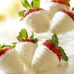 Witte chocolade aarbeien